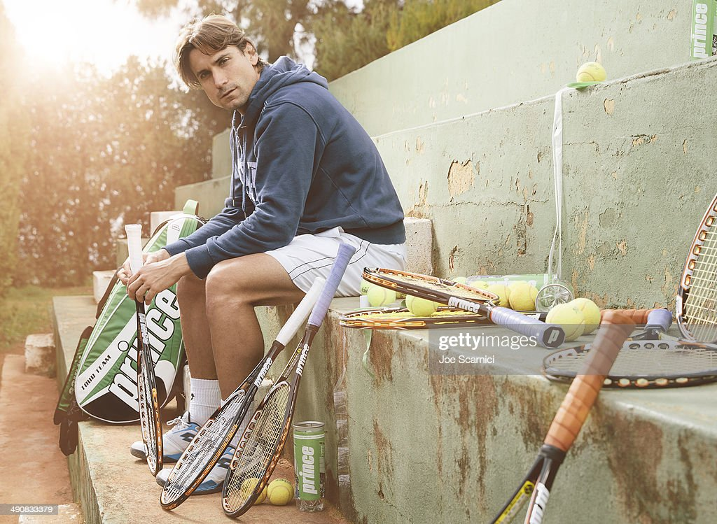 Tennis player <a gi-track='captionPersonalityLinkClicked' href=/galleries/search?phrase=David+Ferrer&family=editorial&specificpeople=208197 ng-click='$event.stopPropagation()'>David Ferrer</a> is photographed for Self Assignment on December 12, 2012 in Valencia, Spain.