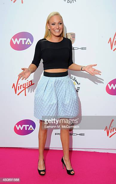 Tennis Player Donna Vekic attends the WTA PreWimbledon Party as guests enjoy Ciroc Vodka presented by Dubai Duty Free at Kensington Roof Gardens on...