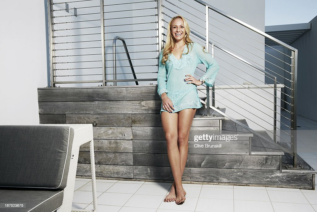 Tennis player Donna Vekic is photographed at the Miami South Beach W Hotel Penthouse Suite on March 26, 2013 in Miami, Florida.
