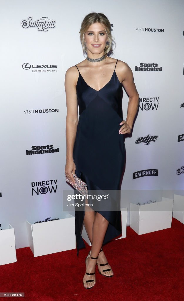 Tennis player Eugenie Bouchard attends the Sports Illustrated Swimsuit 2017 launch event at Center415 Event Space on February 16, 2017 in New York City.