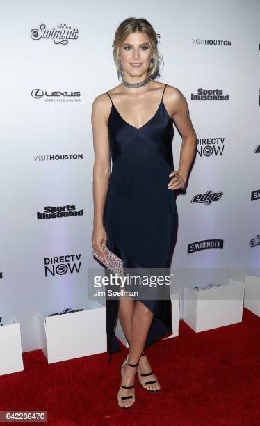 Tennis player Eugenie Bouchard attends the Sports Illustrated Swimsuit 2017 launch event at Center415 Event Space on February 16 2017 in New York City