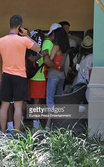 Tennis player Fernando Verdasco and model Jarah Mariano are seen on March 24 2012 in Miami United States