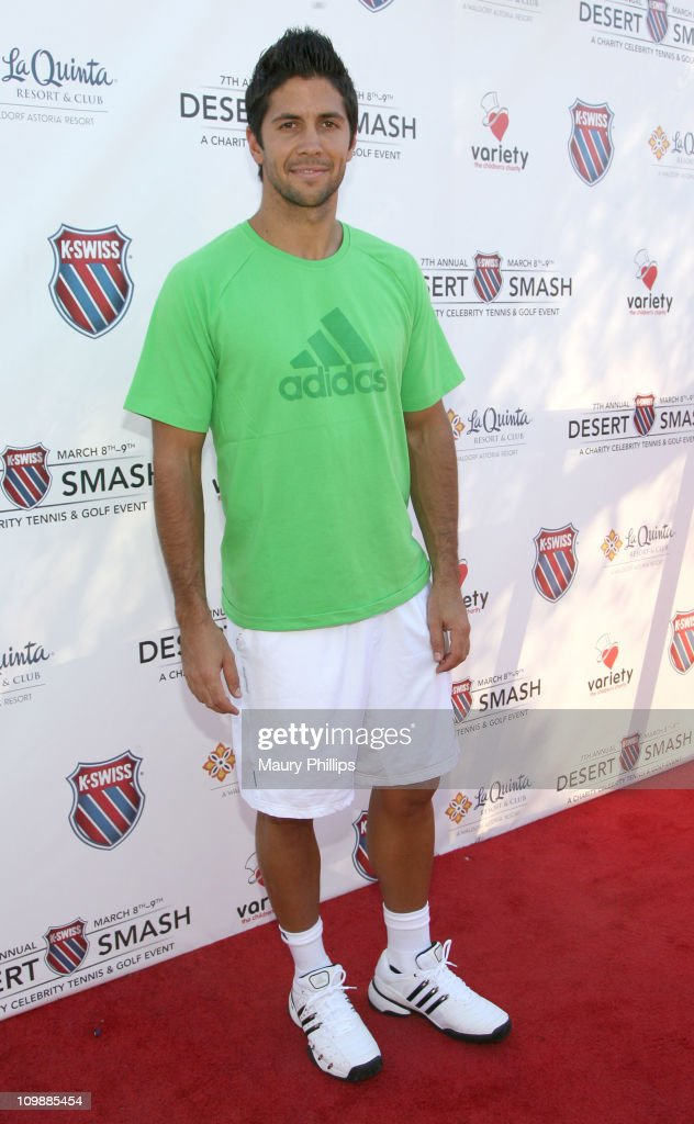 Tennis player <a gi-track='captionPersonalityLinkClicked' href=/galleries/search?phrase=Fernando+Verdasco&family=editorial&specificpeople=213930 ng-click='$event.stopPropagation()'>Fernando Verdasco</a> arrives at the 7th Annual K-Swiss Desert Smash - Day 1 at La Quinta Resort and Club on March 8, 2011 in La Quinta, California.
