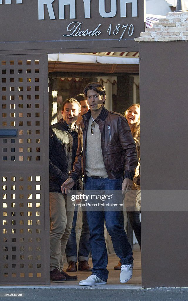 Tennis player <a gi-track='captionPersonalityLinkClicked' href=/galleries/search?phrase=Fernando+Verdasco&family=editorial&specificpeople=213930 ng-click='$event.stopPropagation()'>Fernando Verdasco</a> is seen leaving a restaurant on December 13, 2013 in Madrid, Spain.