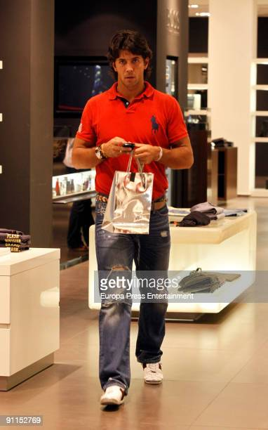 Tennis player Fernando Verdasco is seen shopping in Madrid on September 23 2009 in Madrid Spain