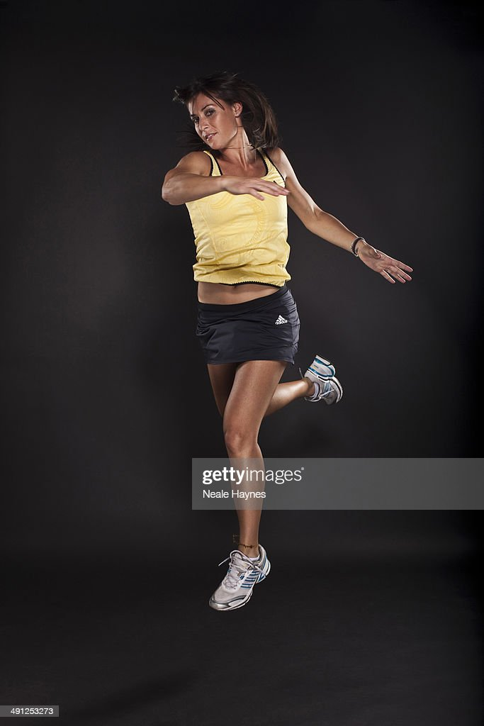 Tennis player <a gi-track='captionPersonalityLinkClicked' href=/galleries/search?phrase=Flavia+Pennetta&family=editorial&specificpeople=220518 ng-click='$event.stopPropagation()'>Flavia Pennetta</a> is photographed in Brighton, England.
