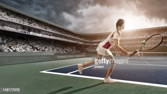 Tennis Player Forehand