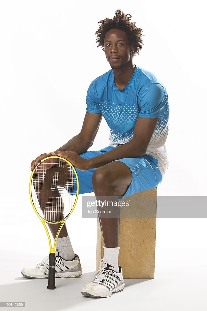 Tennis player <a gi-track='captionPersonalityLinkClicked' href=/galleries/search?phrase=Gael+Monfils&family=editorial&specificpeople=213774 ng-click='$event.stopPropagation()'>Gael Monfils</a> is photographed for Self Assignment on August 26, 2011 in New York City.