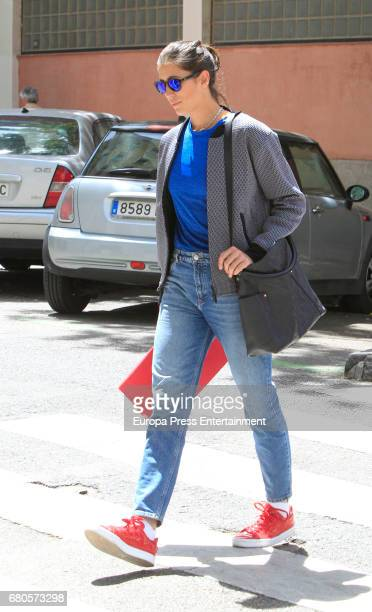 Tennis player Garbiñe Muguruza is seen on May 8 2017 in Madrid Spain