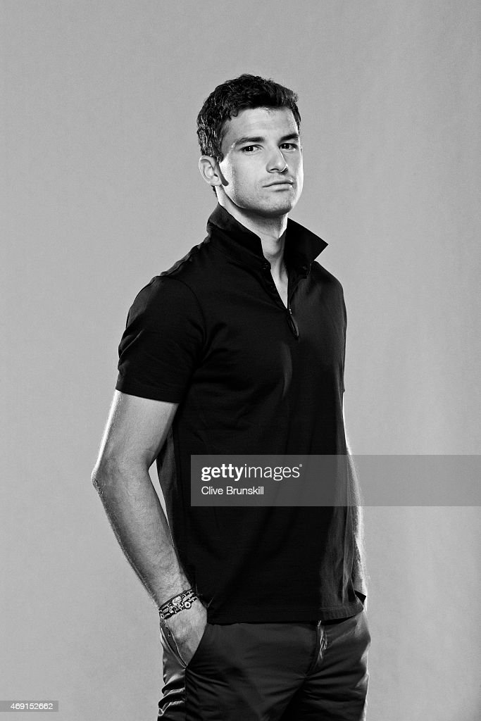 Tennis player Grigor Dimitrov is photographed on March 5, 2014 in London, England.