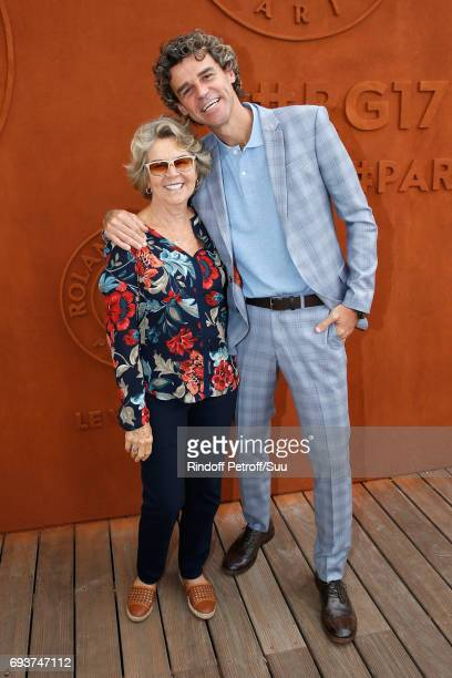 Tennis Player Gustavo Kuerten and his mother Alice attend the 2017 French Tennis Open Day Twelve at Roland Garros on June 8 2017 in Paris France