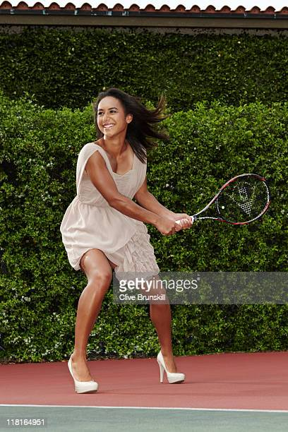 Tennis player Heather Watson is photographed on March 29 2011 in Miami Florida