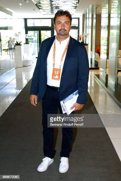 Tennis player Henri Leconte attends the 2017 Roland Garros French Tennis Open Women's and Men's Singles Draw Held at Club des Loge in Roland Garros...