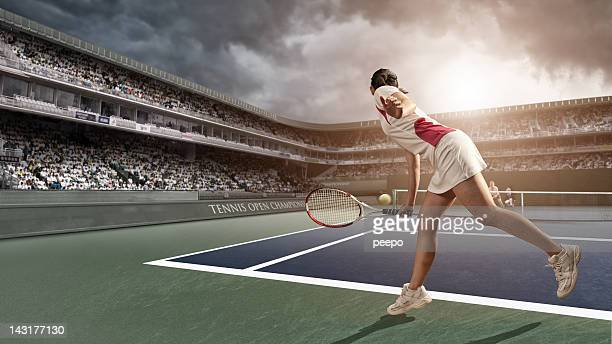 Tennis Player in Action