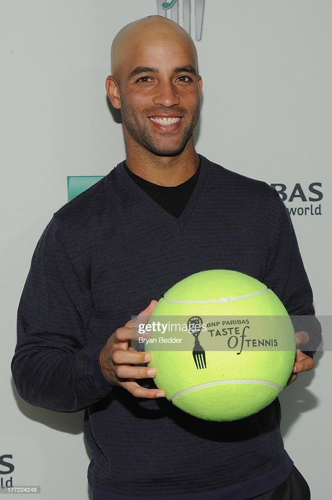 Tennis player <a gi-track='captionPersonalityLinkClicked' href=/galleries/search?phrase=James+Blake+-+Tennis+Player&family=editorial&specificpeople=11469919 ng-click='$event.stopPropagation()'>James Blake</a> attends the 14th Annual BNP Paribas Taste Of Tennis at W New York Hotel on August 22, 2013 in New York City.
