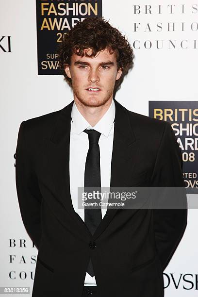 Tennis player Jamie Murray attends the British Fashion Awards 2008 held at The Lawrence Hall on November 25 2008 in London England
