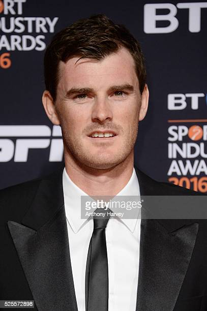 Tennis player Jamie Murray poses on the red carpet at the BT Sport Industry Awards 2016 at Battersea Evolution on April 28 2016 in London England The...