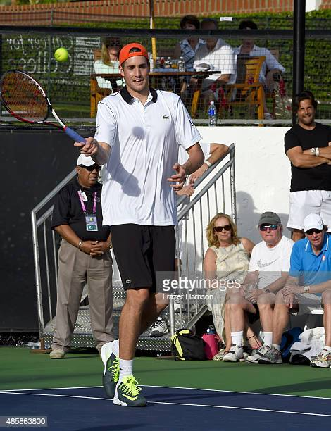 Tennis Player John Isner attends the 11th Annual Desert Smash Hosted By Will Ferrell Benefiting Cancer For College at La Quinta Resort and Club on...