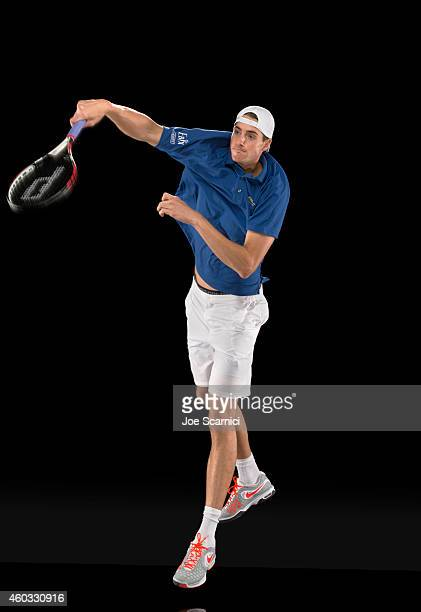 Tennis player John Isner is photographed for Self Assignment on December 1 2013 in Bradenton Florida