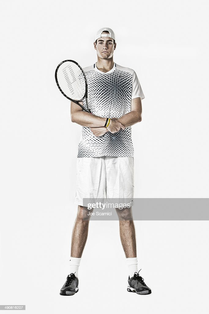 Tennis player <a gi-track='captionPersonalityLinkClicked' href=/galleries/search?phrase=John+Isner+-+Tennis+Player&family=editorial&specificpeople=4439464 ng-click='$event.stopPropagation()'>John Isner</a> is photographed for Self Assignment on December 4, 2010 in Manhattan Beach, California.