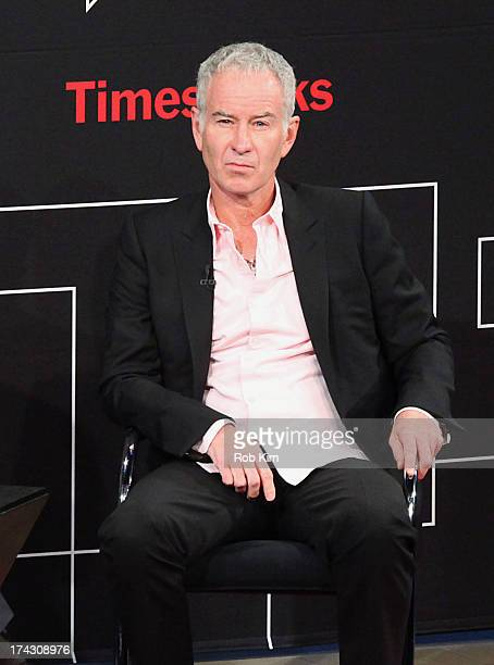 Tennis player John McEnroe attends TimesTalks evening with John McEnroe at Times Center on July 23 2013 in New York City