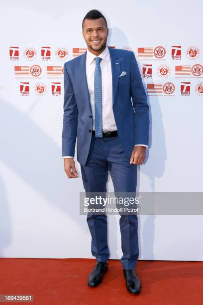 Tennis Player JoWilfried Tsonga attends Annual Photocall for Roland Garros Tennis Players at 'Residence De L'Ambassadeur Des EtatsUnis' on May 24...