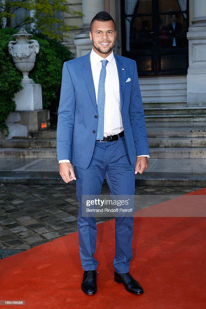 Tennis Player Jo-Wilfried Tsonga attends Annual Photocall for Roland Garros Tennis Players at 'Residence De L'Ambassadeur Des Etats-Unis' on May 24, 2013 in Paris, France.