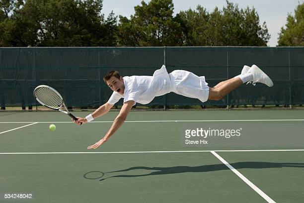 Tennis Player Lunging