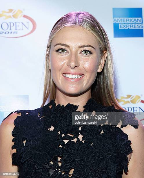 Tennis player Maria Sharapova attends 2015 American Express Rally On the River at Pier 97 on August 26 2015 in New York City