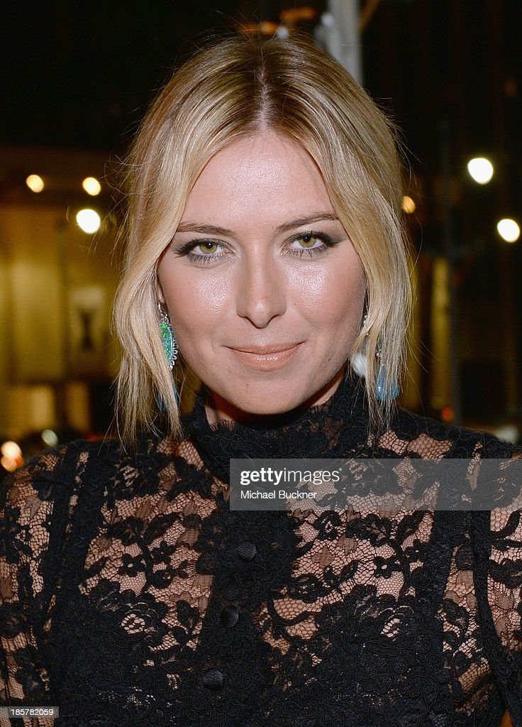 Tennis Player <a gi-track='captionPersonalityLinkClicked' href=/galleries/search?phrase=Maria+Sharapova&family=editorial&specificpeople=157600 ng-click='$event.stopPropagation()'>Maria Sharapova</a> attends Dream for Future Africa Foundation Inaugural Gala honoring Franca Sozzani of VOGUE Italia at Spago on October 24, 2013 in Beverly Hills, California.