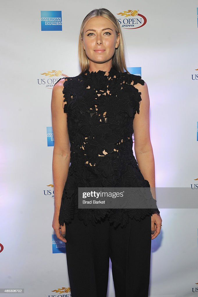 Tennis player Maria Sharapova attends Rally On The River presented by American Express, featuring Maria Sharapova, John Isner, Monica Puig and DJ Set By CHROMEO at Pier 97 on August 26, 2015 in New York City.