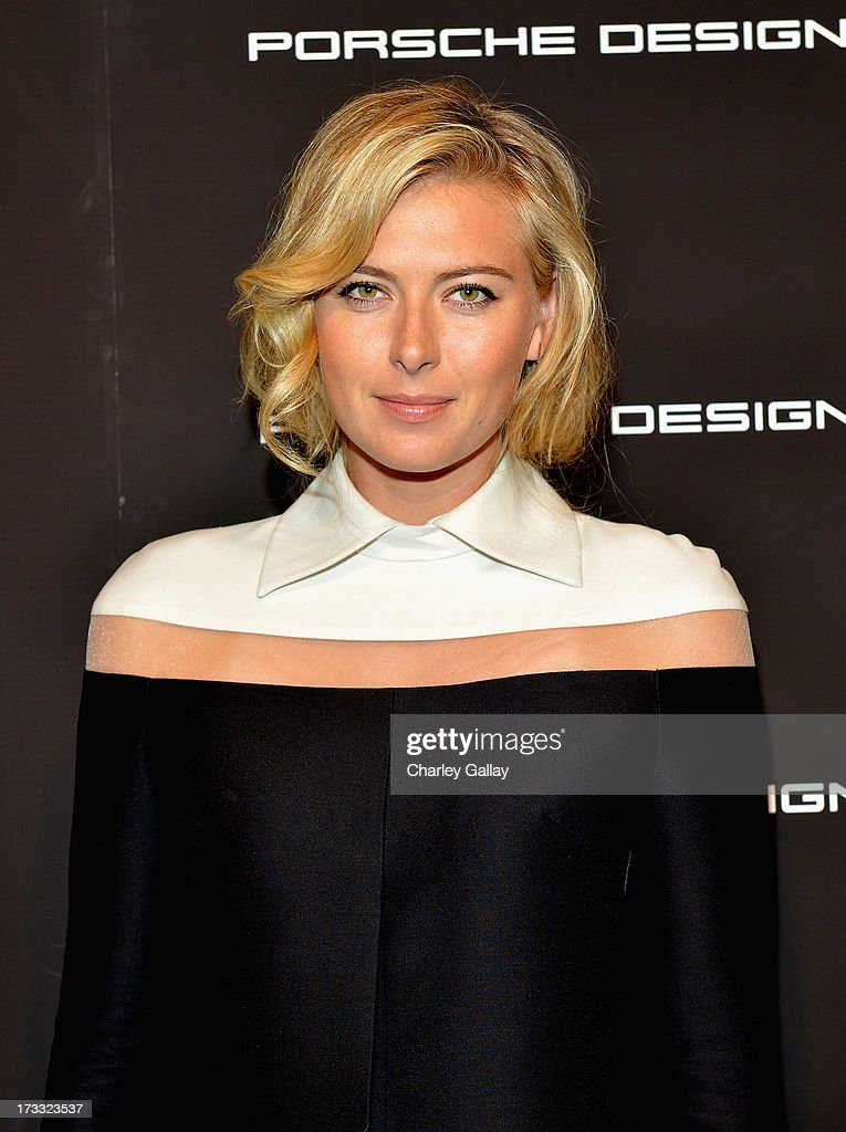 Tennis player Maria Sharapova attends the Porsche Design and Vogue re-opening event at Porsche Design Beverly Hills on July 11, 2013 in Beverly Hills, California.