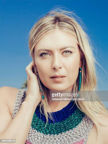 Tennis player Maria Sharapova is photographed for Paris Match on July 21 2017 in Los Angeles California