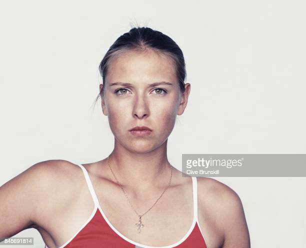 Tennis player Maria Sharapova is photographed on October 9 2004 in Miami Florida
