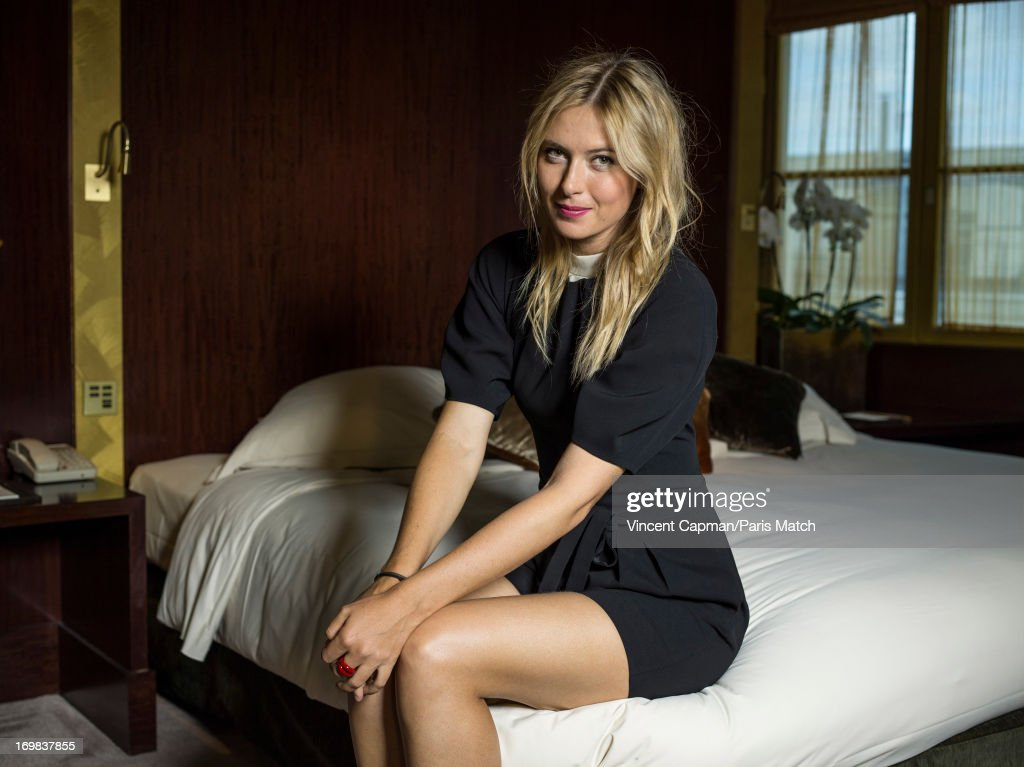 Tennis player <a gi-track='captionPersonalityLinkClicked' href=/galleries/search?phrase=Maria+Sharapova&family=editorial&specificpeople=157600 ng-click='$event.stopPropagation()'>Maria Sharapova</a> is photographed Paris Match on May 22, 2013 in Paris, France.