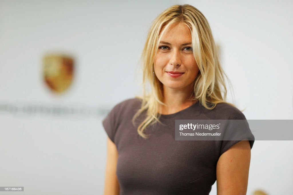 Tennis player <a gi-track='captionPersonalityLinkClicked' href=/galleries/search?phrase=Maria+Sharapova&family=editorial&specificpeople=157600 ng-click='$event.stopPropagation()'>Maria Sharapova</a> poses for the media as she is unveiled as car manufacturer Porsche's new brand ambassador at the Porsche Museum on April 22, 2013 in Stuttgart, Germany.