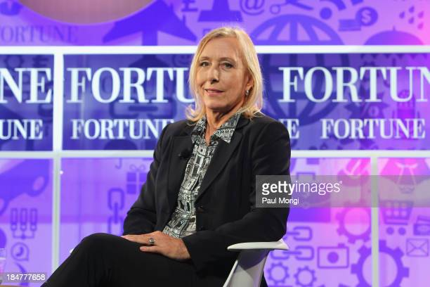 Tennis player Martina Navratilova speak onstage at the FORTUNE Most Powerful Women Summit on October 16 2013 in Washington DC
