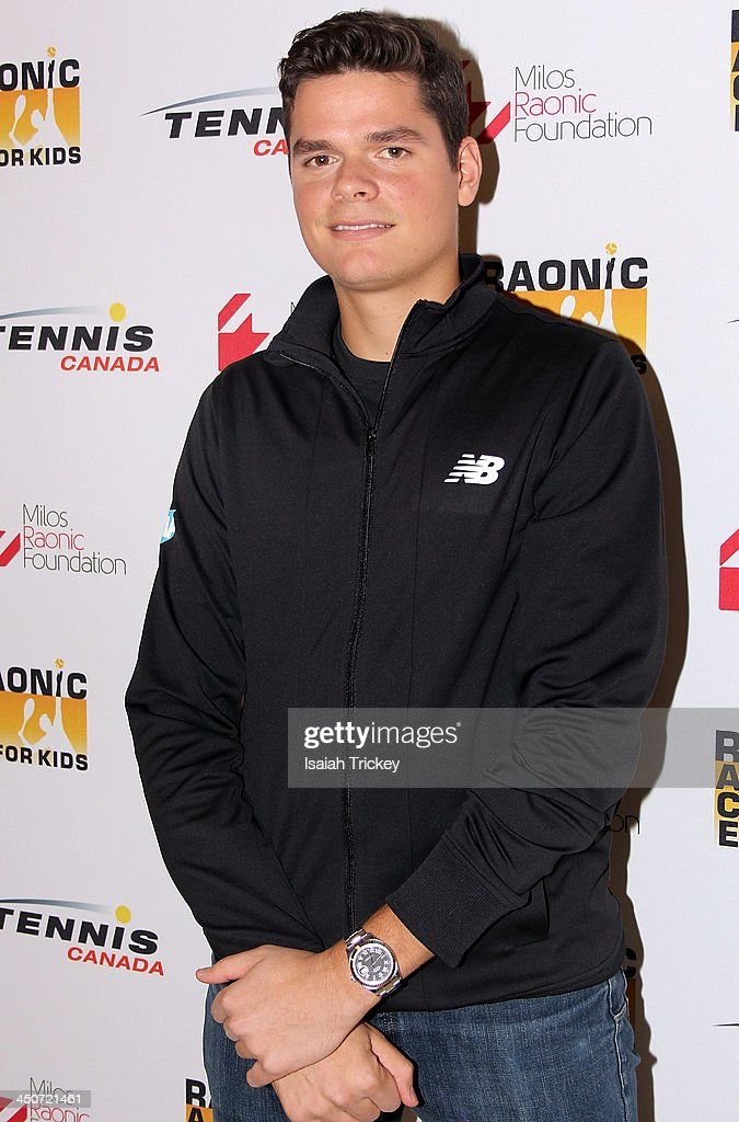 Tennis Player <a gi-track='captionPersonalityLinkClicked' href=/galleries/search?phrase=Milos+Raonic&family=editorial&specificpeople=5421226 ng-click='$event.stopPropagation()'>Milos Raonic</a> attends The 2nd Annual Raonic Race For Kids Fundraiser Benefitting The <a gi-track='captionPersonalityLinkClicked' href=/galleries/search?phrase=Milos+Raonic&family=editorial&specificpeople=5421226 ng-click='$event.stopPropagation()'>Milos Raonic</a> Foundation on November 19, 2013 in Toronto, Canada.