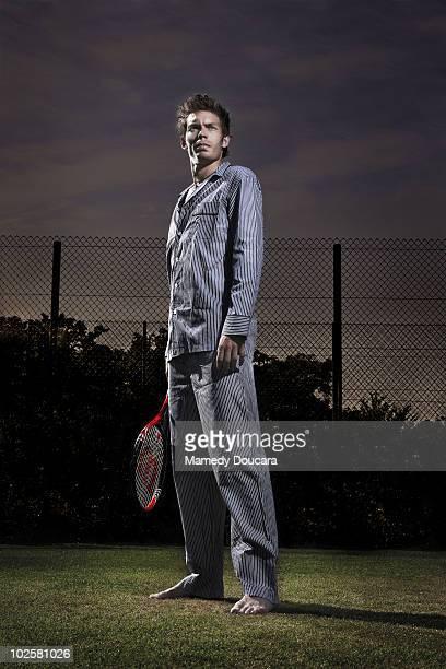 Tennis player Nicolas Mahut poses at a portrait session in Paris on June 29 2010