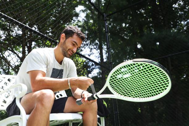 NY: American Tennis Player Noah Rubin Trains During Coronavirus Pandemic