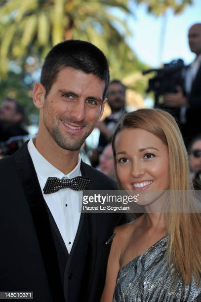 Tennis player Novak Djokovic and Jelena Ristic attend the 'Killing Them Softly' Premiere during 65th Annual Cannes Film Festival at Palais des...