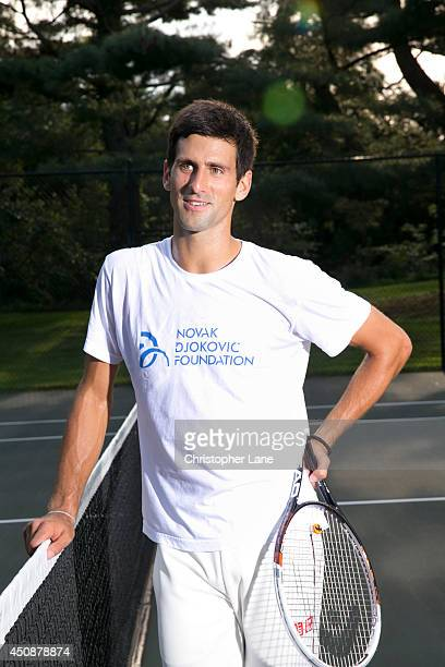 Tennis player Novak Djokovic is photographed for Self Assignment on August 22 2013 on Long Island New York