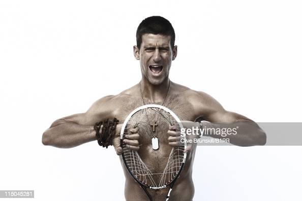 Tennis player Novak Djokovic is photographed on March 8 2011 in La Quinta California NO