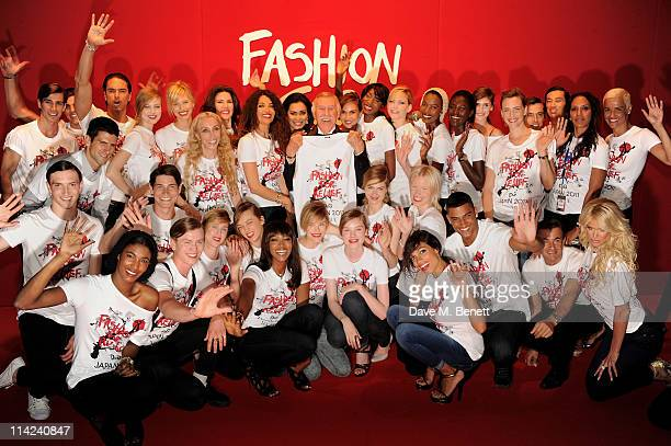 Tennis player Novak Djokovic model Karolina Kurkova editor in cheif of Vogue Italia Franca Sozzani Christina Estrada Juffali Afef Jnifen model Naomi...