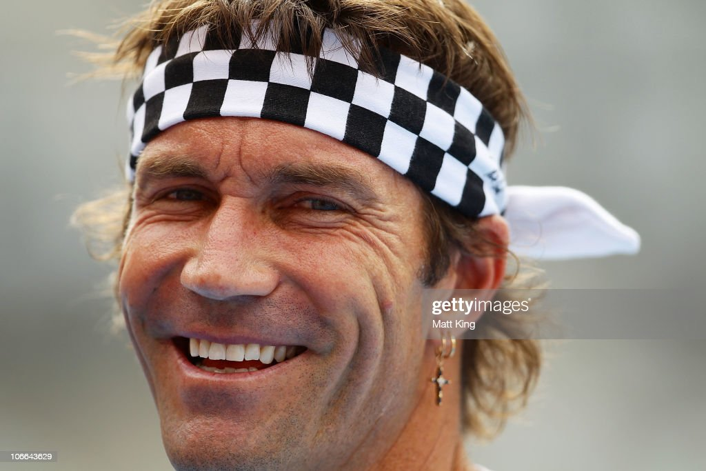 Tennis Player Pat Cash Of Australia Speaks To The Media During A Session For