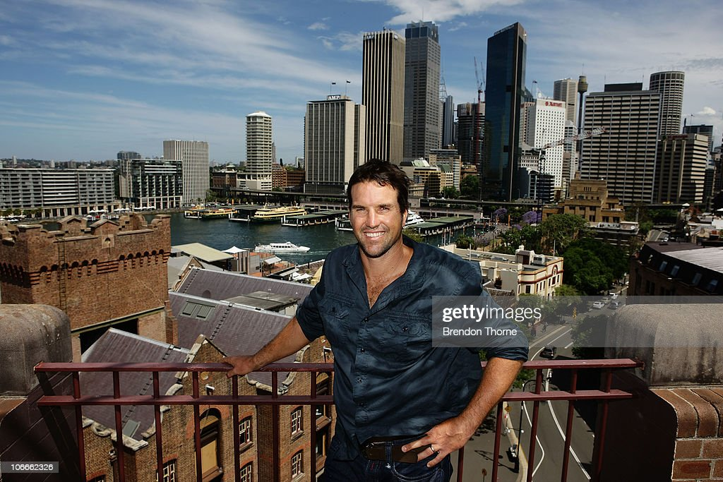 Tennis player Pat Rafter of Australia poses during a media session for the Champions Downunder Tournament at Events NSW on November 10, 2010 in Sydney, Australia.