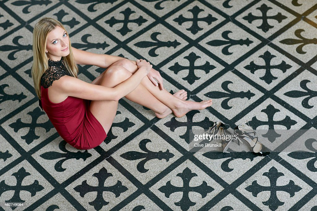 Tennis player Petra Kvitova is photographed on December 17, 2014 at the town hall in Olomouc, Czech Republic.