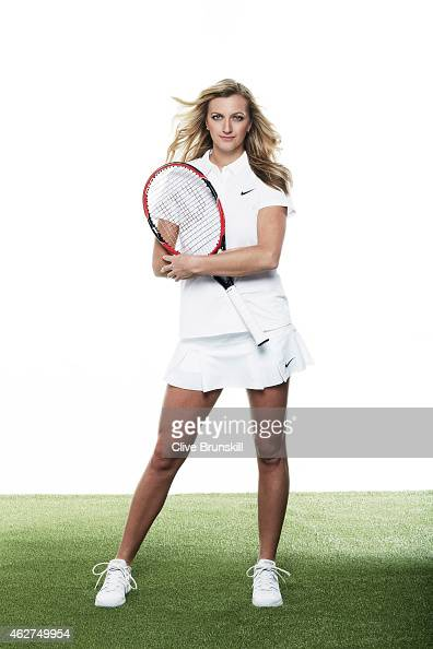 Tennis player Petra Kvitova is photographed on December 17 2014 at the town hall in Olomouc Czech Republic