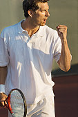 Tennis Player Pumping His Fist