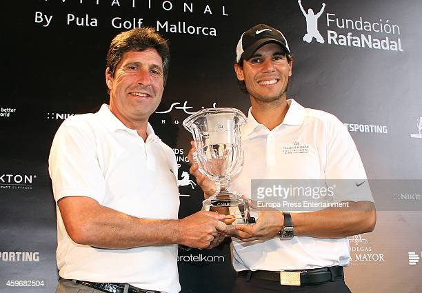 Tennis player Rafael Nadal and golfer Jose Maria Olazabal present the charity event Olazabal Nadal Invitational by Pula Golf Mallorca on November 28...